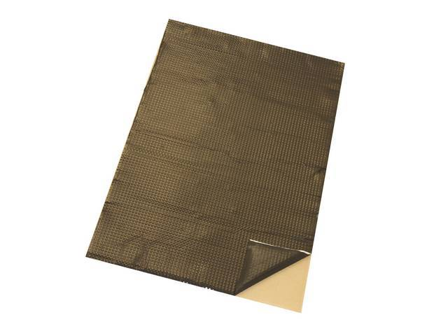 INSULATION, Black backing, self-adhesive, thermal and vibration damping,