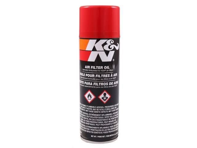 K&N AIR FILTER OIL, 6 1/2 OZ