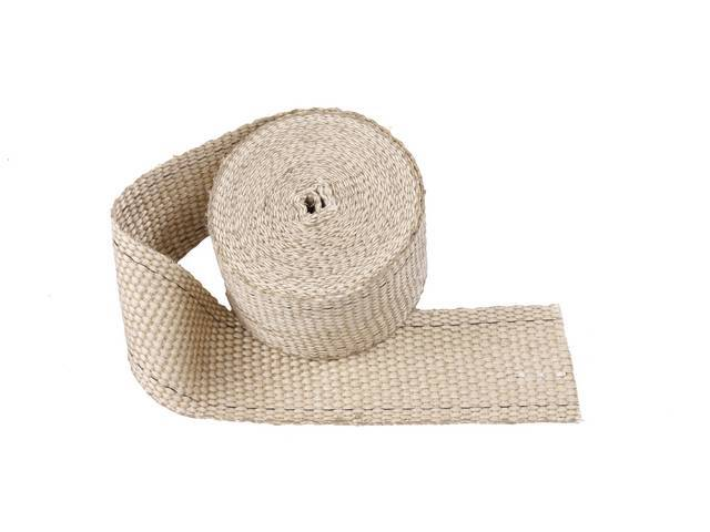 EXHAUST WRAP, Tan, 2 Inch x 15 Foot