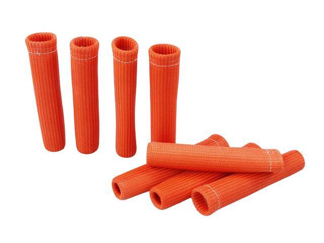 PROTECT-A-BOOT, Orange, (8) per pack, 6 Inch, Non-flammable,