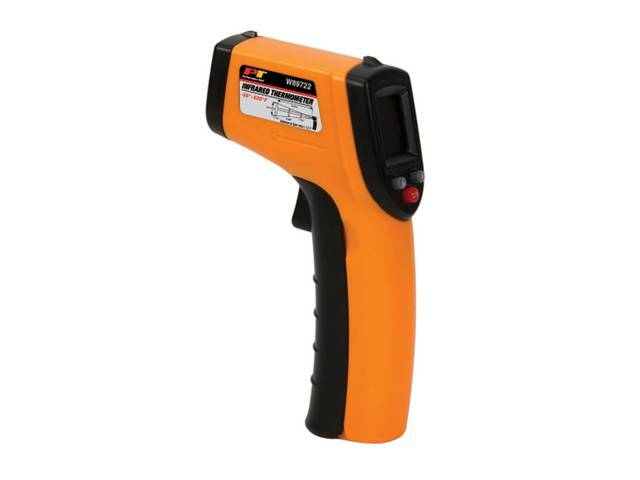 THERMOMETER, Infrared, -58 to 626 degree F range,