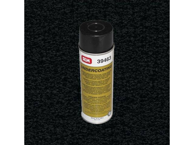 PAINT, ASPHALT BASE UNDERCOAT, BLACK, SEM PRODUCT, COMPARABLE TO PRESERVATEK, 19 FLUID OUNCE SPRAY CAN