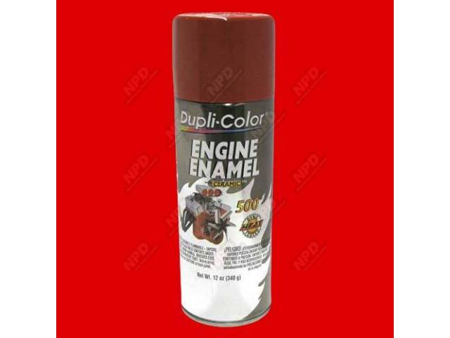 PAINT ENGINE ENAMEL FORD RED-ORANGE CORRECT COLOR 12