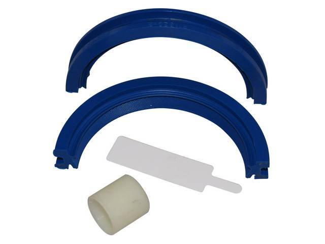 Gasket Set, Crankshaft / Rear Main, Fel Pro, 2 piece offset double lip design, rubber