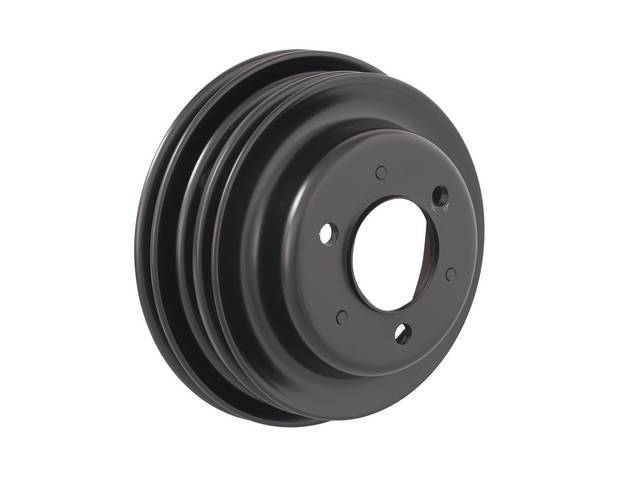 PULLEY, Crankshaft, triple groove, 7.8 inch o.d., Black