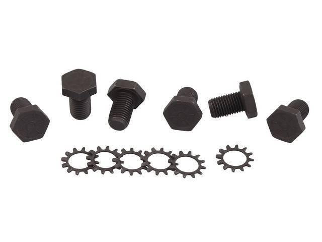 FASTENER KIT, Flexplate to crankshaft, (12) incl grade 8 hexwasher bolts