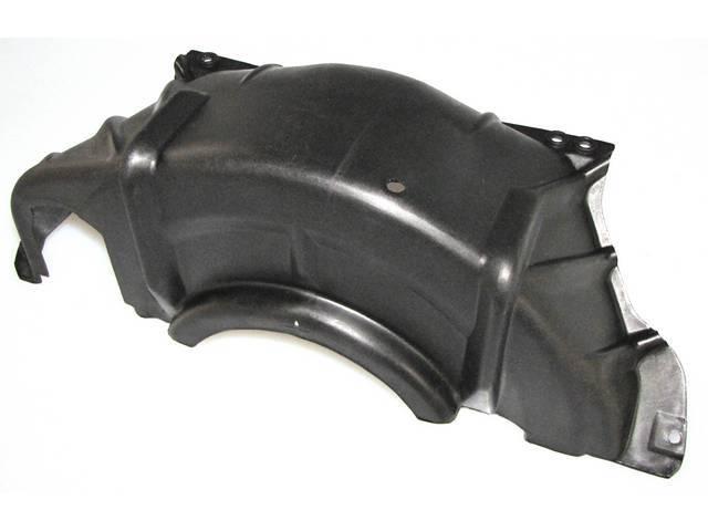 PAN, Transmission Converter Cover, black plastic, GM