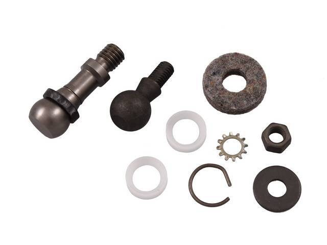 FASTENER KIT, CLUTCH BELLCRANK, (9), BALL STUDS, SEATS,