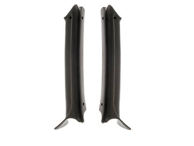 MOLDING / PAD SET, Inner Windshield Pillar (Garnish), Black, Repro