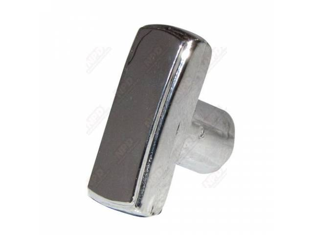 Knob Windshield Wiper Control Switch Chrome Plastic Repro