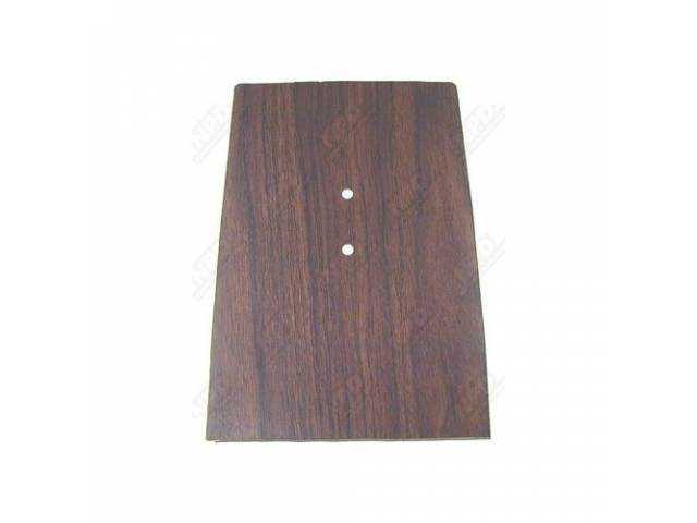Plate Console Trim Forward Walnut Wood Finish Does
