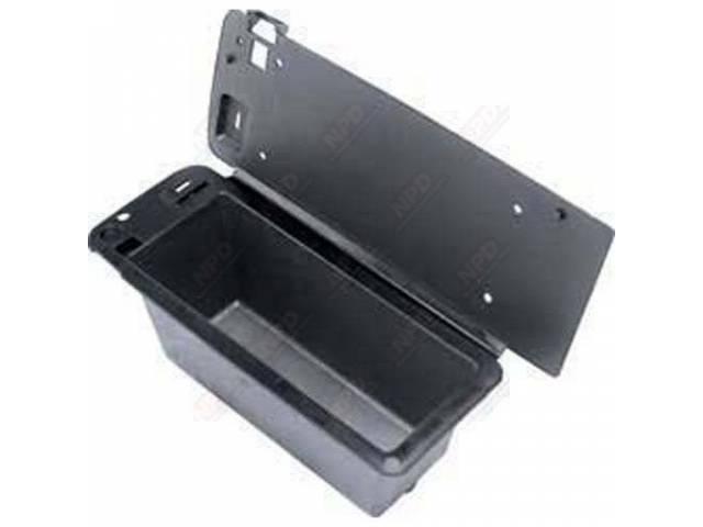 BOX, Console Glove Compartment, plastic w/ flap, OER