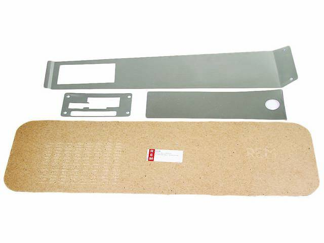 BACKING KIT, Console, installs between wood grain overlay