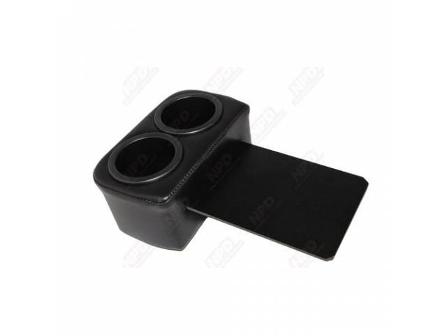 Plug And Chug Ash Tray Drink Holder Black