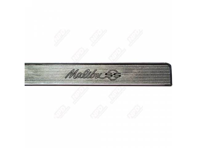 TRIM PLATE, Dash Panel, *Malibu SS*, Repro