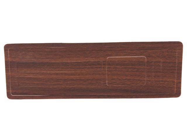 INSERT, Instrument Panel Trim Plate, Heater Control, vinyl