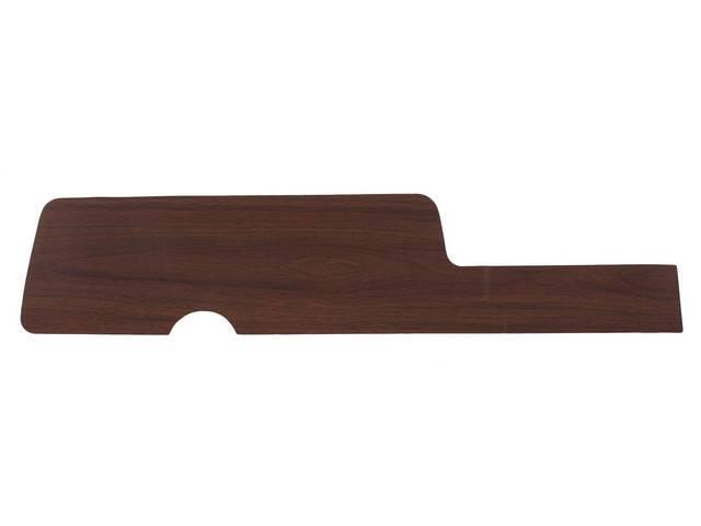 INSERT, Instrument Panel Cluster, vinyl wood finish overlay,