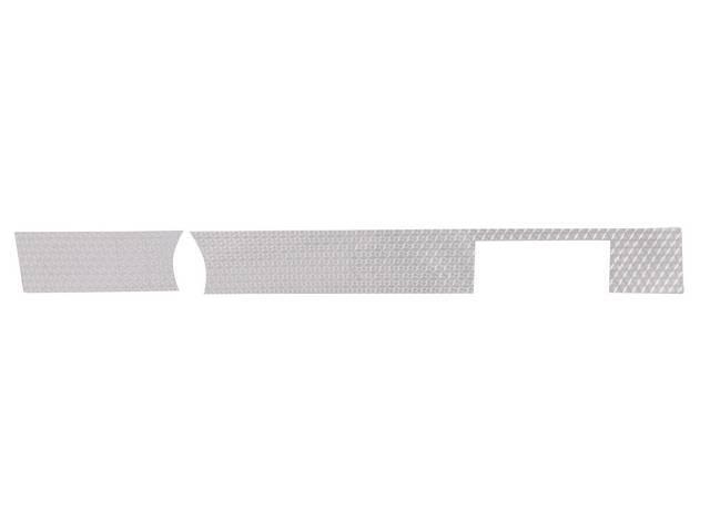 INSERT, Instrument Panel Cluster, lower, vinyl, machine-turned aluminum