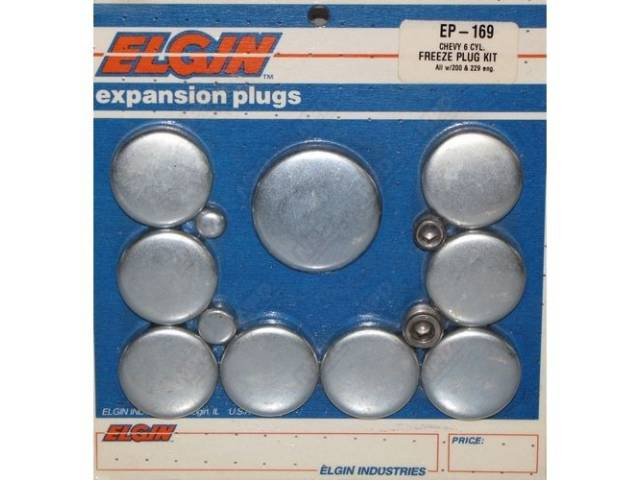 Freeze Plug Set Zinc-Plated Steel Incl Freeze Plugs