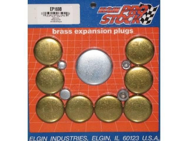 FREEZE PLUG SET, Brass, Incl Freeze Plugs, Hex