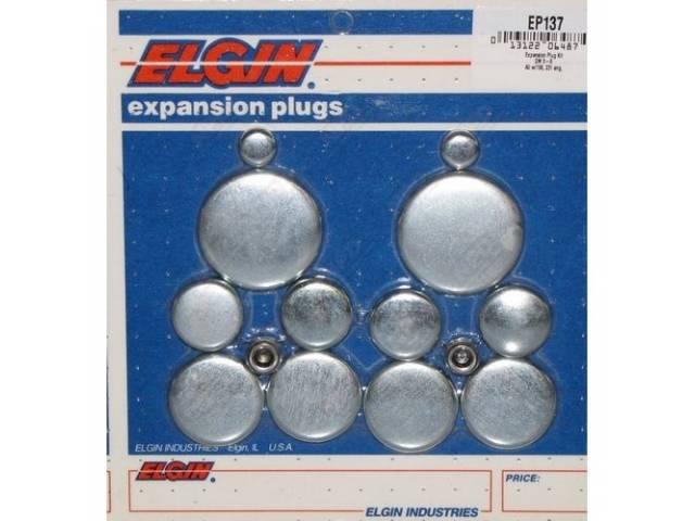 Freeze Plug Set Zinc-Plated Steel Incl Freeze Plugs