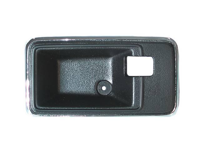 Escutcheon Inner Door Handle Black Finish W/ Chrome
