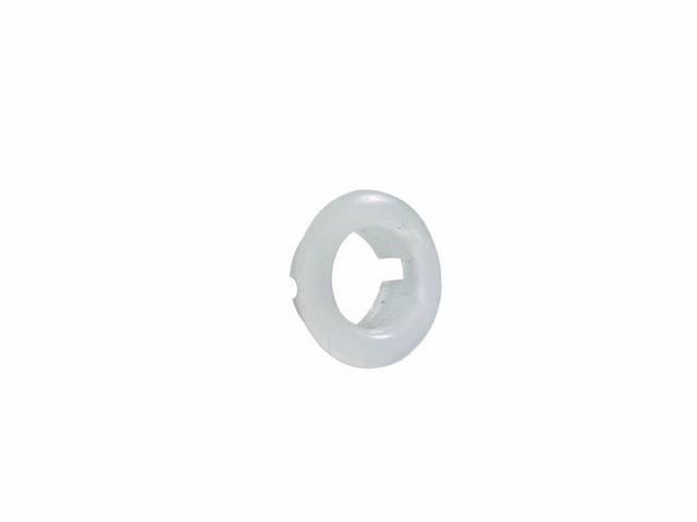 Ferrule Door Lock Knob Clear Plastic Repro