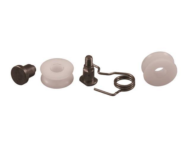 ROLLER KIT, Quarter Window, (5) Incl threaded stud,