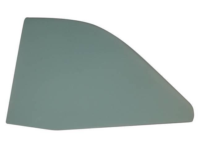 GLASS, Quarter Window, Green Tinted w/o markings, LH,