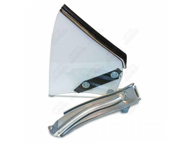 Glass Assy Quarter Window Clear Glass W/O Markings