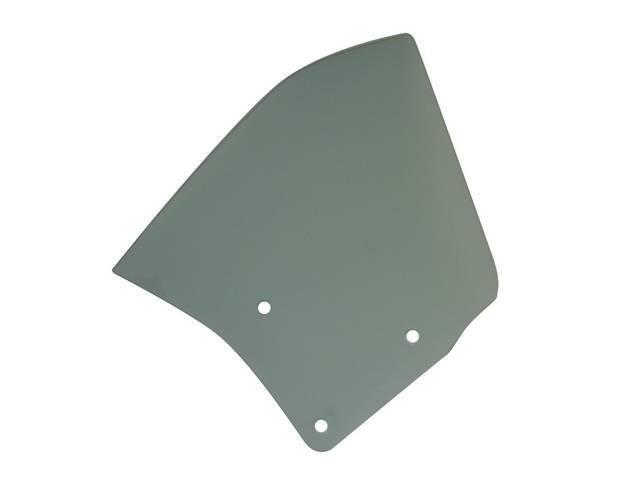 GLASS, Quarter Window, Green Tinted w/o markings, RH,
