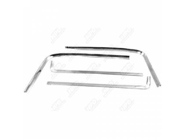 Molding Kit Rear Window Reveal Polished Stainless Steel