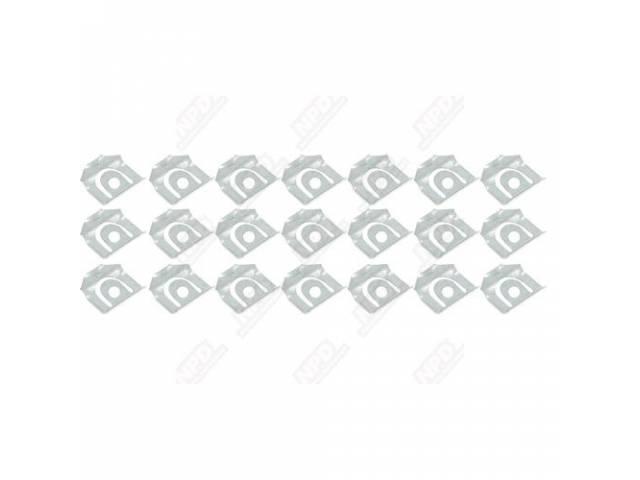 Fastener Kit Rear Window Moldings 22 Incl Black