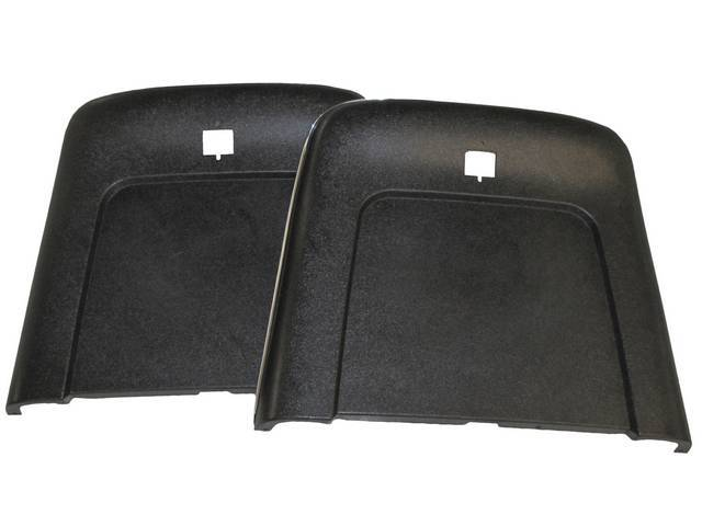 PANEL SET, Bucket Seat Back, black, ABS-Plastic w/ chrome mylar trim, repro