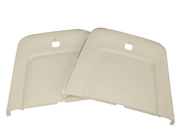 PANEL SET, Bucket Seat Back, white (actual color is off white), ABS-Plastic w/ chrome mylar trim, repro