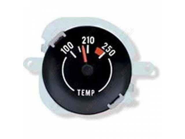 Gauge Coolant / Water Temperature White Markings And