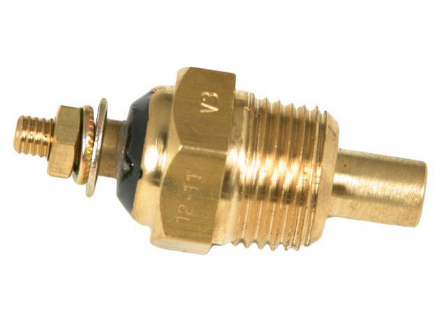 SENDER, Coolant Temperature, Classic Instruments, 3/8 inch NPT, self-sealing tapered threads, for use w/ Classic Instruments gauges only