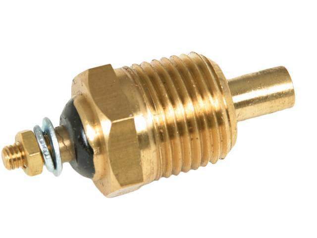 SENDER, Coolant Temperature, Classic Instruments, 1/2 inch NPT, self-sealing tapered threads, for use w/ Classic Instruments gauges only