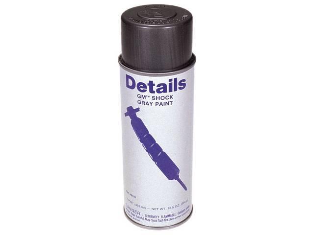 SPRAY PAINT, SHOCK GRAY, 12 ounce acrylic enamel