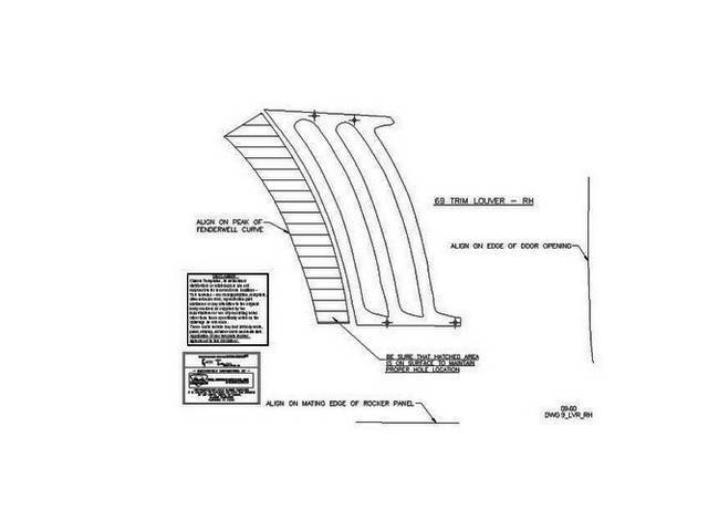 TEMPLATE KIT, Quarter Panel Louver / Ornament, locates