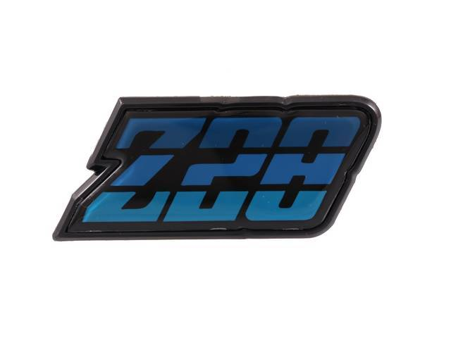 EMBLEM, Fuel Filler Door, *Z/28*, Blue Tri-Tone, US-made