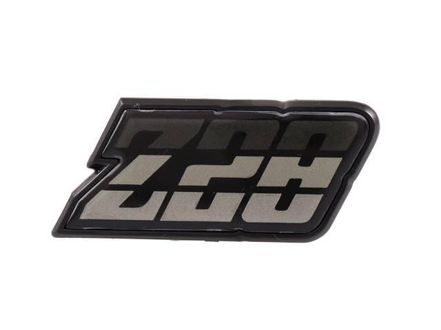 EMBLEM, Fuel Filler Door, *Z/28*, Green Tri-Tone, US-made