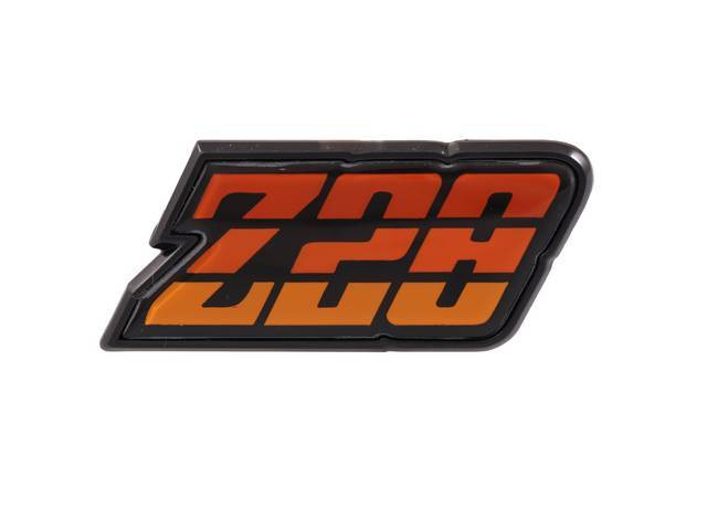 Emblem Fuel Filler Door Z/28 Orange Tri-Tone Us-Made