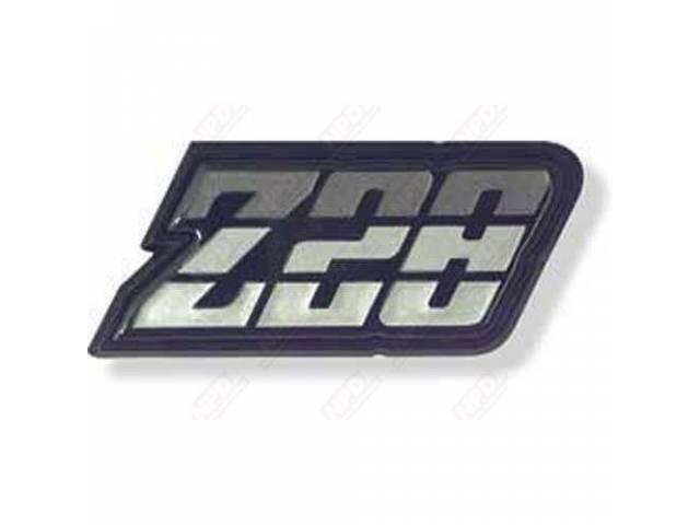 EMBLEM, Fuel Filler Door, *Z/28*, Charcoal Tri-Tone, US-made