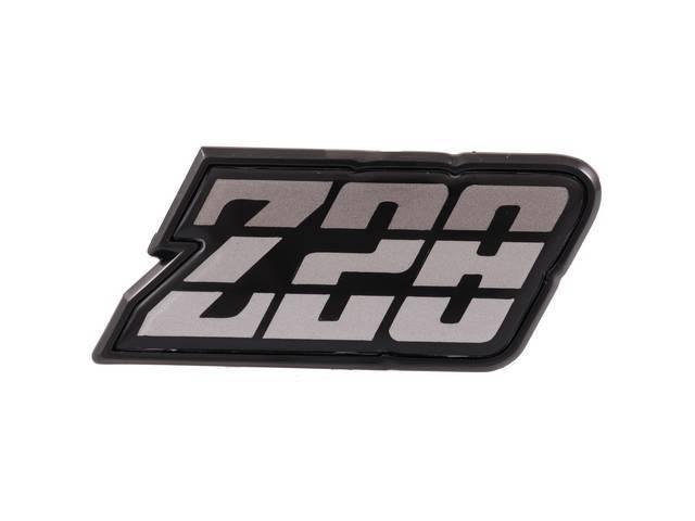 EMBLEM, Fuel Filler Door, *Z/28*, Silver Tri-Tone, US-made
