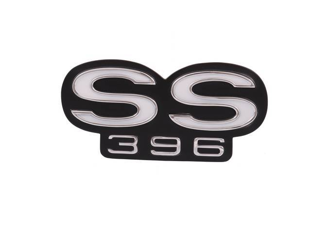 Emblem, Rear Panel, *SS396*, Not originally used on