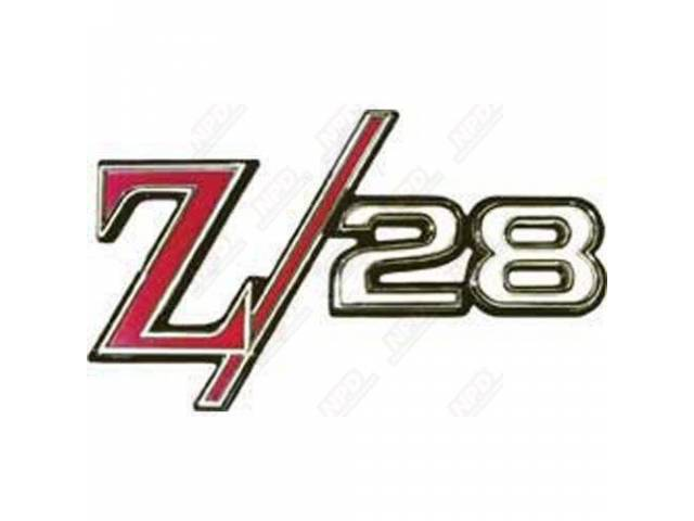 Emblem Rear Panel Z/28 Us-Made Oe Correct Repro