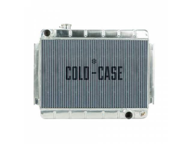 RADIATOR, Down Flow, Aluminum, 2 row, Cold Case,