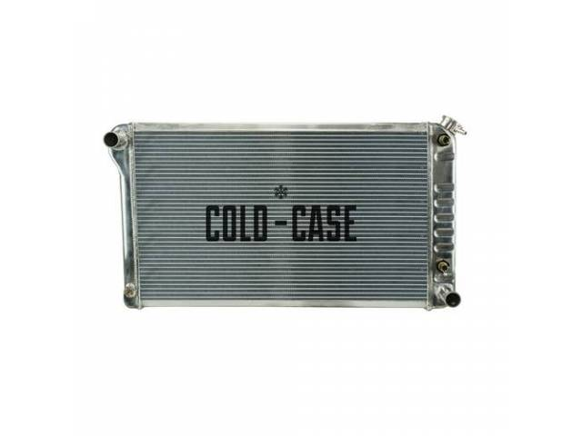 RADIATOR, Cross Flow, Aluminum, 2 row, Cold Case,