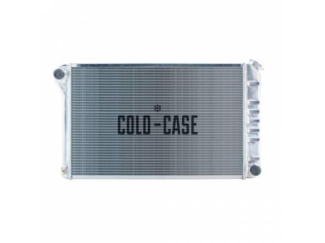 Radiator Cross Flow Aluminum 2 Row Cold Case